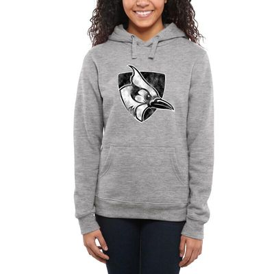 Johns Hopkins Blue Jays Women's Classic Primary Pullover Hoodie - Ash -
