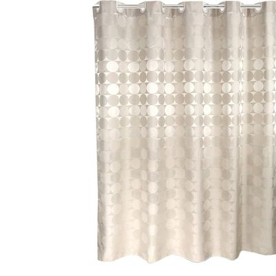 200 x 220Cm Elegant Circle Solid Shower Curtain Polyester Fabric Thick Waterproof Bath Curtain Mold Simple Bathroom Set Partitio