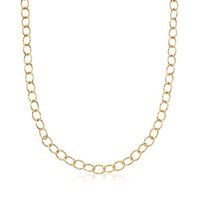Ross-Simons Italian 14kt Yellow Gold Cable-Link Necklace