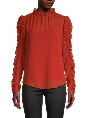 See by Chloe Ruched Georgette Blouse