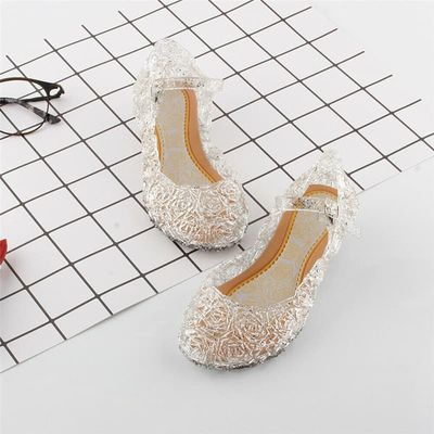 2019 New Fashion Baby Girls Kids Summer Crystal Sandals  Princess Toddler Cute l Fancy Crystal Jelly High-Heeled Shoes