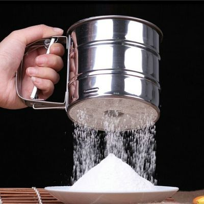 New Sieve Cup Powder Flour Sieve Mesh Knife Baking Tools Pastry Tools