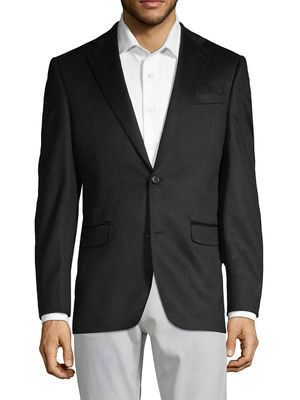 Cashmere Saks Fifth Avenue Classic Cashmere Notch Jacket