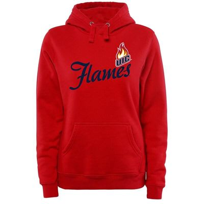 UIC Flames Women's Plus Sizes Dora Pullover Hoodie - Red