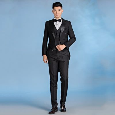 New Arrivals Gray Men Suits Slim Fit Tailor Custom Made Groom Groomsmen Tuxedo 2 Piece Casual Party Business (Jacket+Pant+Tie)