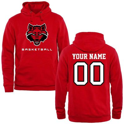 Arkansas State Red Wolves Personalized Basketball Pullover Hoodie - Red