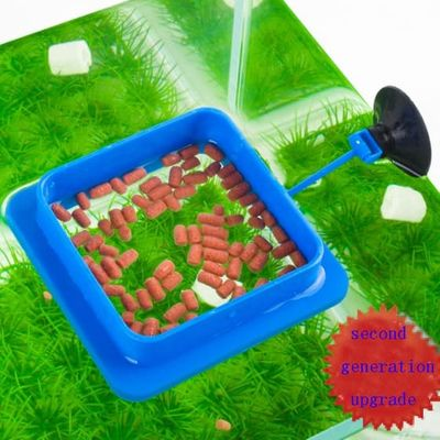Aquarium Fish Tank Ring Feeder Fish Feeding Square Round Station Floating Food Water Plant Buoyancy Circle Accessory Sucker Cup