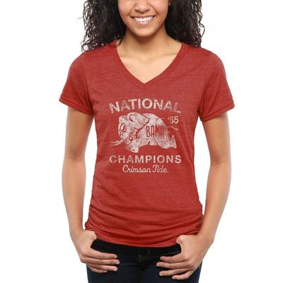 Alabama Crimson Tide Women's 1965 Full Speed Tri-Blend T-Shirt - Crimson