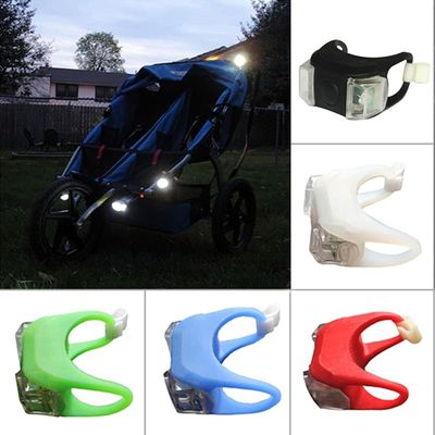 Baby Stroller Night Alarm light Waterproof Silicone Caution lamp Outdoor remind Security Safety LED Flash Caution Lamp