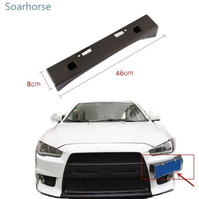 Soarhorse for Mitsubishi Lancer EX Modified EVO license plate frame registration plate bracket holder
