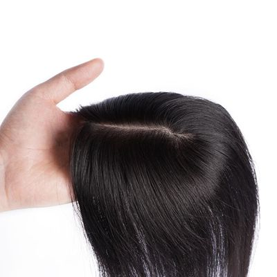 Doreen Silk Base Hair Topper Pure Color Toupee Hairpieces for Women 100% Remy Human Toupee Hair
