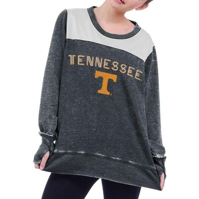Tennessee Volunteers chicka-d Women's Cutout Back Tunic Sweatshirt - Gray