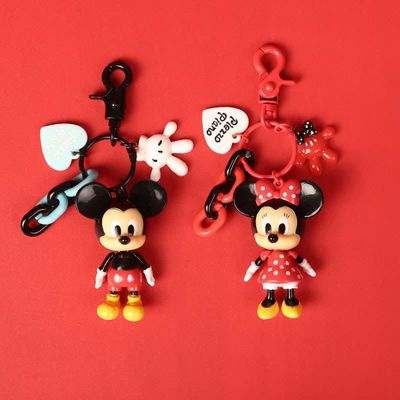 Disney  mickey mouse minnie carton bag pendant Cute Cartoon Car Keychain Schoolbag Pendant Bag  girl boy Souvenir gift toy