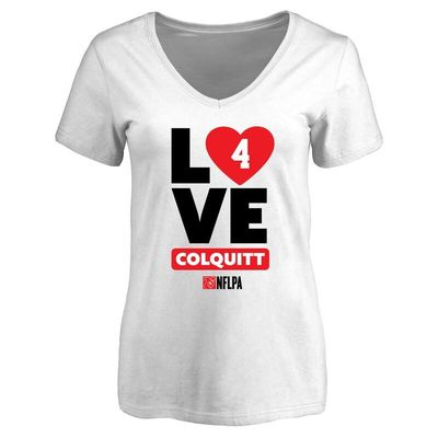Britton Colquitt Fanatics Branded Women's I Heart V-Neck T-Shirt - White