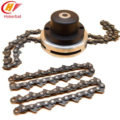 Universal 65Mn Trimmer Head Coil Chain Brush Cutter Garden Grass Trimmer Head Upgraded With Thickening Chain For Lawn Mower