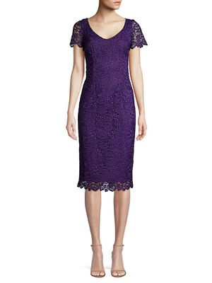 Trina Turk Wine Country Embroidery Sheath Dress
