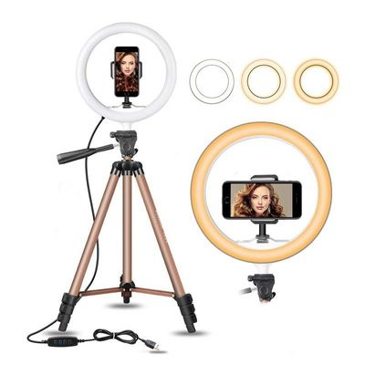 32 cm LED ring light Adjustable tripod for Youtube makeup phone Selfie with tripod stand phone Clip For xiaomi huawei etc phone