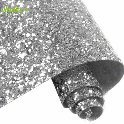 15cm*3m Self Adhesive Silver Chunky 3D Glitter Stairs Wallpaper Border Peel and Sticker Craft Decor