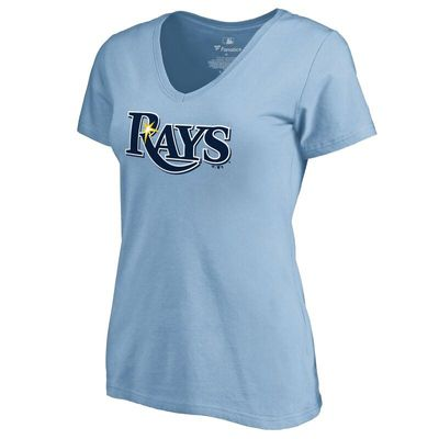 Tampa Bay Rays Women's Secondary Color Primary Logo T-Shirt - Light Blue
