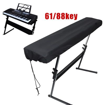 Black Piano Keyboard Dust Cleaning Cloth For 61-Key Electronic Piano Cover