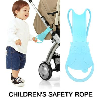 Adjustable Children Traction Rope Anti Lost Toddler Safety Harness Silicone Grab Soft Baby Walking Wristband Stroller Handle