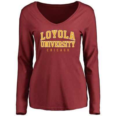 Loyola Chicago Ramblers Women's Everyday Long Sleeve T-Shirt - Maroon