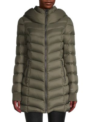 Soia & Kyo Quilted Down-Fill Jacket