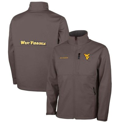 West Virginia Mountaineers Columbia Ascender Bonded Softshell Jacket - Gray