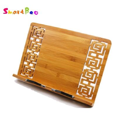 Bamboo Book Stand Reading bamboo Large Medium Small rack zitie rack bookend reading photo frame; Book Stand Copy Holder