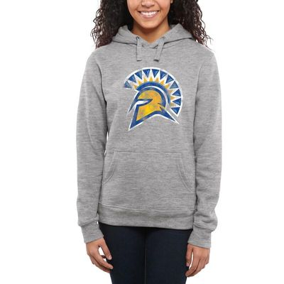 San Jose State Spartans Women's Classic Primary Pullover Hoodie - Ash -