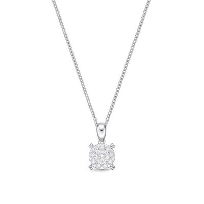 Memoire Diamond Bouquet Necklace 1.5ct LOOK