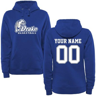 Drake Bulldogs Women's Personalized Basketball Pullover Hoodie - Royal