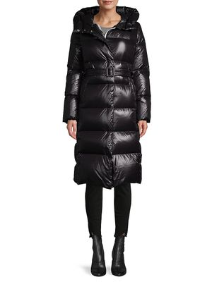 Nicole Benisti Hooded Filled Belted Puffer Jacket