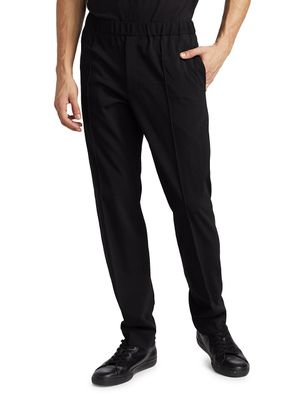 Helmut Lang Stretch-Wool Pull-On Trousers