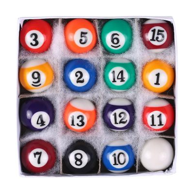 25/32/38MM Snooker Balls Cue Balls Full Set Children Billiards Table Balls Set Resin Small Pool Professional Cue Balls Full Set