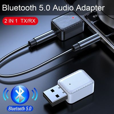 JINSERTA Universal 3.5mm jack Bluetooth Car Kit Hands free Music Audio Receiver Adapter Auto AUX Kit for Speaker Headphone