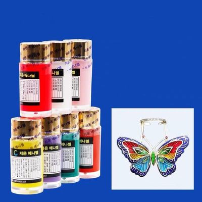 20ml Enamel Paint Low Temperature Baking, Hardening Agent Liquid Included, Easy Applying for Jewelry DIY Art color series1