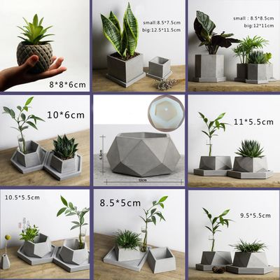 Many geometric pot mold, cement pot silicone mold, geometric gypsum concrete pot mold Creative design concrete silicon mold
