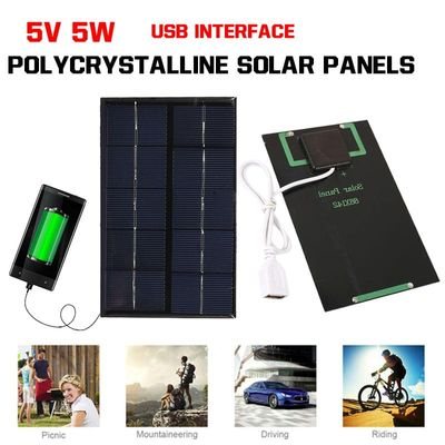 14.5*8.9*0.2cm 5V 5W Solar Panel Charger Solar cell Outdoor Climbing Phone Charger Portable For SmartPhone For Xiaomi
