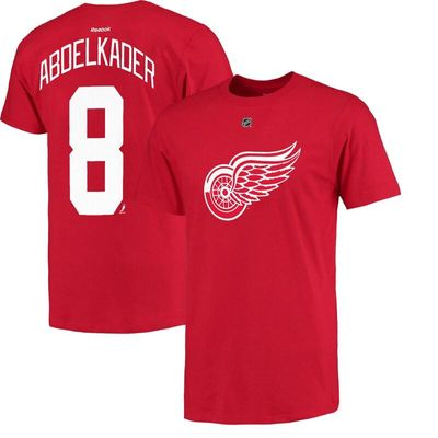 Justin Abdelkader Detroit Red Wings Reebok Name and Number Player T-Shirt - Red