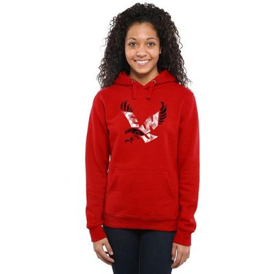 Eastern Washington Eagles Women's Classic Primary Pullover Hoodie - Scarlet
