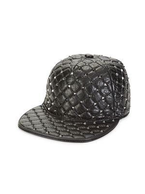 Valentino Studded Leather Baseball Cap