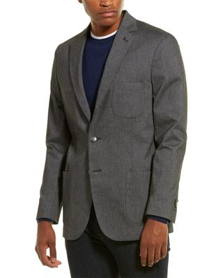 Michael Bastion Slim-Fit Linen-Blend Jacket