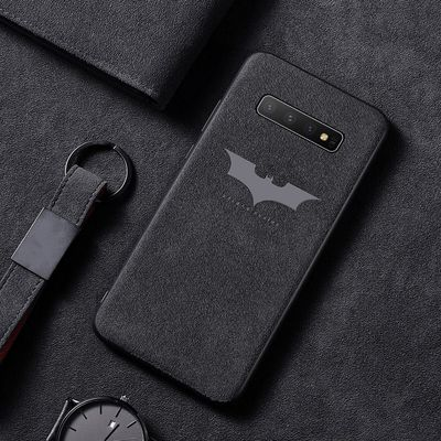 Luxury Bat Turn Fur Phone Case For Samsung Galaxy S20 S10 e 5G S9 S8 Plus Note 10 9 8 Ultra-thin Car Leather Cover Coque