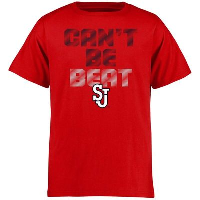 St. Johns Red Storm Can't Be Beat T-Shirt - Red