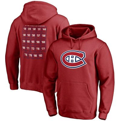 Montreal Canadiens Raise the Banner Pullover Hoodie - Red