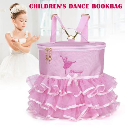 Newly Ballet Dance Bag Students School Backpack Embroidered Tiered Ruffled Bag for Kids Girls BF88