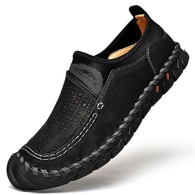 Men Loafers Casual Slip On Male Shoes Leather Shoes Plus Big Size Moccasins Comfy