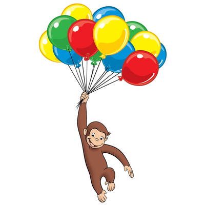 12 ct Curious George Edible Frosting Image  Cupcake Toppers *