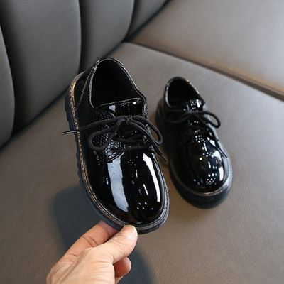 Children infant Kids Baby Boys British Style Student Formal Perform Casual shoes Solid Lace-up Children's Shoes For Baby Boy